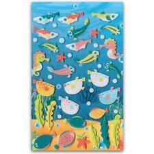 ✰ CUTE TROPICAL FISH FELT STICKERS Sheet Animal Craft Scrapbook Fuzzy Sticker