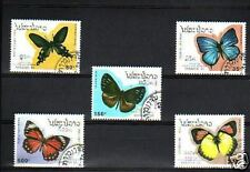1913++LAOS  SERIE TIMBRES  PAPILLONS  1993