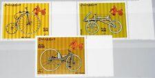 SOMALIA 2000 819-21 Fahrräder Bicycles Bikes Räder Hochrad Draisine MNH