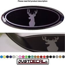 8.2x3.15 DEER HEAD overlay decal sticker logo hunting FITS specific ford emblems