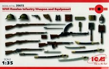 Ww i russian infantry weapon and equipment #35672 1/35 icm