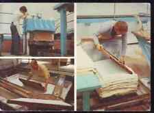 CPSM  --  WOOKEY HOLE  WELLS SOMERSET  MAKING PAPER BY HAND   758.B
