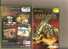 GLADIATOR SWORD OF VENGEANCE XBOX / X BOX RARE RATED 18