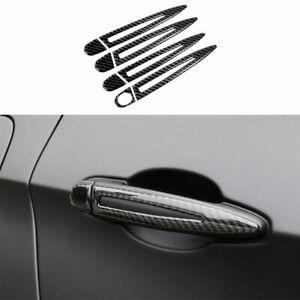 For BMW X5 X6 E70 E71 2008-13 Real Carbon Fiber Outside Door Handle Cover Trim