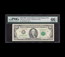 FLAWLESS 1990 $100 FRN STAR RARE KANSAS CITY GEM NEW 66EPQ