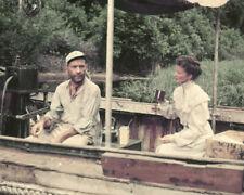 The African Queen Humphrey Bogart Katharine Hepburn Conversing Boat 8X10 Photo