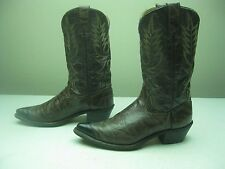BROWN DISTRESSED WRANGLER USA ROCKABILLY WESTERN COWBOY DANCING BOOTS SIZE 10 D