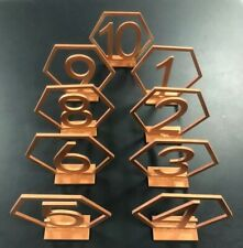 Copper Painted Table Numbers - Great for Weddings or Events