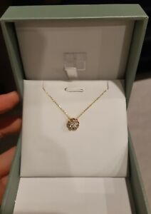 diamond necklace rosegold chain