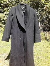 Women's Beautiful Feminine DONNYBROOK long wool winter black coat Petite sz 8