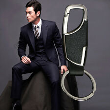 Business Metal Leather Waist Belt Keyring Keychain Key Chain Keyfob men