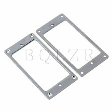 2x Metal FLAT Humbucker Pickup Mounting Ring Chrome