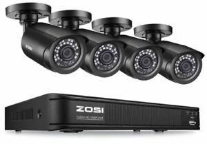 4 Camaras de Seguridad Sistema Vigilancia Vision Nocturna Impermeable HD 720P