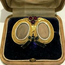 15ct Gold Victorian Enamelled Mourning Brooch. Exceptional condition