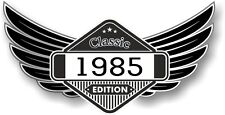 Winged Emblem Year Dated 1985 CLASSIC EDITION Crest Cafe Racer Biker Car Sticker