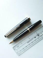 """Pilot F /""""Penko/"""" Black F Nib Fountain Pen 1980s Vintage NOS Rare Collectible"""