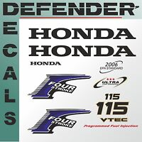 Honda 115 hp Four Stroke outboard engine decal sticker set reproduction 115Hp
