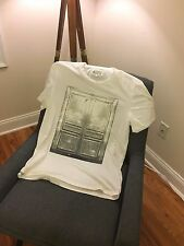 Maison Martin Margiela White Neoclassic French Door Graphic T-Shirt Size 50