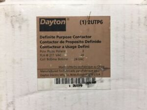 NEW IN BOX - Dayton 2UTP6 Definite Purpose Contactor 3 pole 24VAC coil