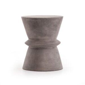 "17.75"" Benilde End Table Side Concrete Dark Grey Artful Design"