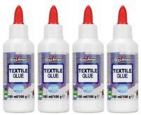 Lot de 4 Colle spéciale Tissu  Textile 4x100ml - 4x106g divers sorte de textile