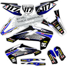 2016 2017 Husqvarna  125 250 350 450 FACTORY: BLUE / BLACK DECALS GRAPHICS KIT
