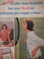PUBLICITÉ 1960 LAVER AVEC PERSIL VOS PULL EN MOHAIR - ADVERTISING