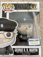NIB Funko Pop George R.R. Martin #1 - Barnes & Noble Exclusive Game of Thrones A