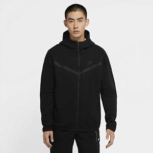 Nike Sportswear Tech Fleece Full Zip Hoodie CU4489-010 Triple Blackout Hoody NSW