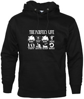 Perfect Life Ride Eat Sex Sleep repeat Mens Bikers Hoodie Motorbike Accessories