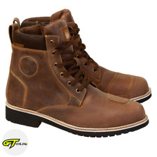 Merlin Ether Motorcycle Boots   Brown Leather Waterproof Short Ankle Bike Boots
