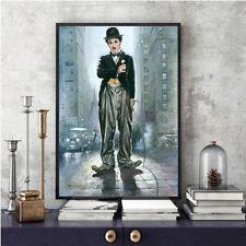 Wall Arts HD Print Oil Painting Home Decor Canvas Charlie Chaplin Fan 24x36
