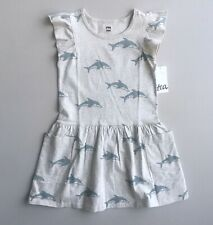 TEA COLLECTION NWT Girls 5 Yrs Gray Dolphin Pocket Dress