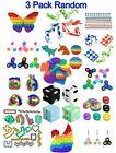 3 Pack Sensory Toy Fidget Toys Set Tools Bundle Stress Relief Simple Bubble Hand