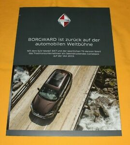 Borgward BX 7 2015 Prospekt Brochure Depliant Prospetto Catalog Broschyr