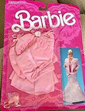 """BARBIE'S FANCY FRILLS LINGERIE """"PINK SATIN GOWN & JACKET"""" NRFB 1986 ITEM #3182"""