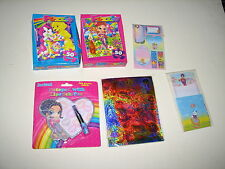 Lisa Frank Lot Notebook Lipstick Pen Stationary Envelopes Stickers Puzzles New
