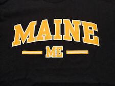 MAINE State Travel T Shirt New England North East Blue sz Medium FREE Shipping