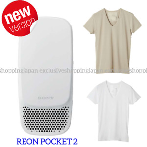Reon Pocket 2 Sony Wearable Thermo Device Shirt Neckband Set 2021 RNP-2/W Latest