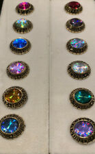 Vintage Jostens College Regalia Ring Top Jewelry Display Gem Birth Stones 12 Lot
