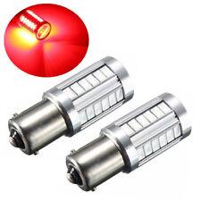 2x Car Led Bulb BA15S P21W 1156 Backup Reverse Light 33-SMD 5630 5730 12V Red