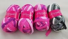 Lot Knitting Fever Rumples Ruffle Yarn 32 yds 4 Skeins Knitting Crafts Scarf