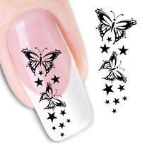 Nail Art de transferencia de agua Pegatina Adhesivos Decorativos Mariposas calcomanías (DX1430)
