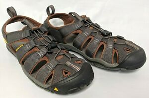 KEEN Outdoor 1014456 Men's Clearwater CNX-M Raven/Tortoise Hiking Sandals Shoes