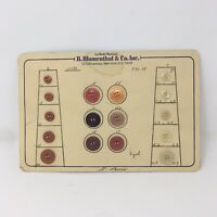 Vintage La Mode Sewing Buttons Card Display N490 Salesmans Sample Since 1877