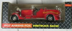 1937 Ertl John Deere Company  Ahrens-Fox Fire Truck bank Grand Detour Illinois
