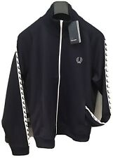 Fred Perry : Taped Track Top / Jacket (L ) Carbon Blue