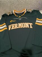 Adidas Vermont Catamounts Hockey Authentic Home Green Jersey Size 56