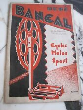 CATALOGUE BANCAL Toulouse & Paris Maison de Gros Saison 1930-1931 VELO MOTO