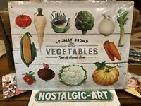 VEGETABLES     Quality Tin Metal Wall Sign